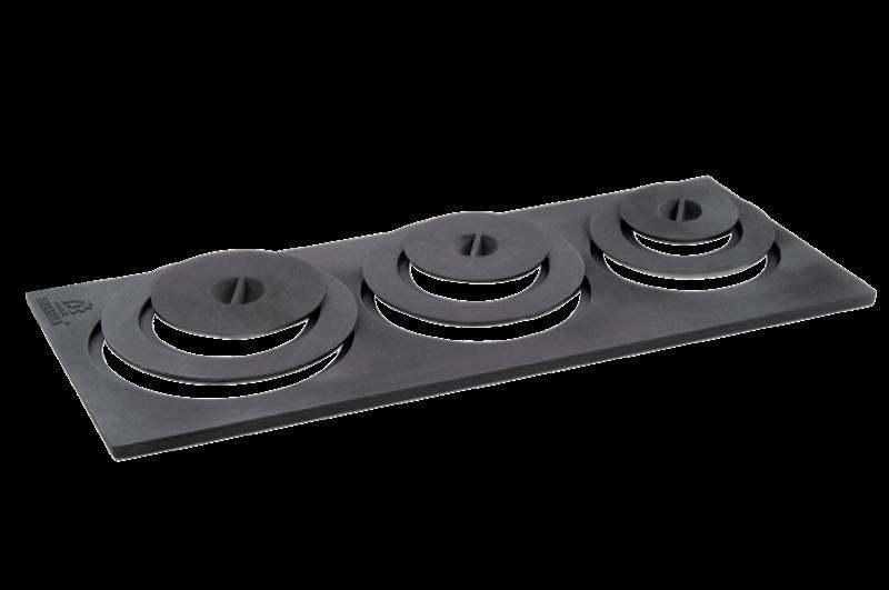 Chapa diversas (trempe) de 2, 3 e 4 furos
