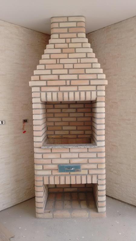 Churrasqueira residencia tijolo mesclado